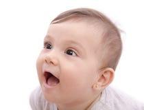 逗人喜爱的微笑的婴孩 库存照片