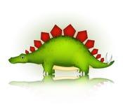 逗人喜爱的恐龙动画片 免版税库存照片