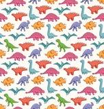 逗人喜爱的恐龙样式 免版税图库摄影