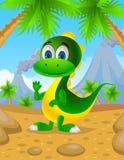 逗人喜爱的恐龙绿色 免版税库存图片