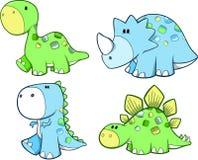 逗人喜爱的恐龙集 免版税库存照片
