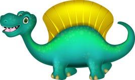 逗人喜爱的恐龙dimetrodon动画片 免版税库存照片