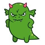 逗人喜爱的恼怒的龙妖怪 库存图片