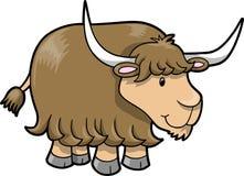 逗人喜爱的愉快的向量牦牛 免版税图库摄影