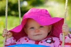 逗人喜爱的愉快的婴儿查找s 库存照片