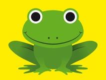 逗人喜爱的愉快的微笑的池蛙 库存图片