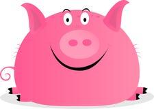 逗人喜爱的愉快的猪 免版税库存照片