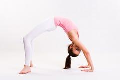 逗人喜爱的执行的执行fitnes女孩年轻人 库存图片