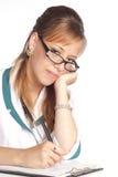 逗人喜爱的护士工作 库存图片