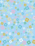 逗人喜爱的抽象几何传染媒介样式 背景蓝色分数维图象光 白色,绿色,黄色和蓝色摆正五彩纸屑 无缝的设计 库存例证