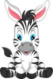 逗人喜爱的斑马动画片 免版税库存图片