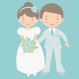 逗人喜爱的新娘和新郎 库存照片