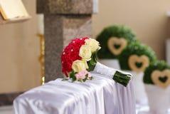 逗人喜爱的新娘花束 免版税库存照片