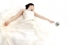 逗人喜爱的新娘 免版税库存照片