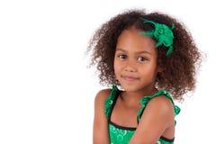 逗人喜爱的新非洲亚裔女孩 免版税图库摄影
