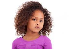 逗人喜爱的新非洲亚裔女孩 免版税库存图片