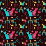 逗人喜爱的无缝的五颜六色的样式 免版税库存照片