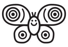 逗人喜爱的昆虫蝴蝶-例证 免版税库存图片