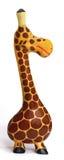 逗人喜爱的木长颈鹿-侧视图 免版税图库摄影
