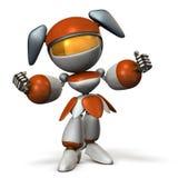 逗人喜爱的机器人支持您的生活 免版税库存照片