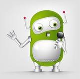 逗人喜爱的机器人 免版税库存照片