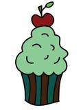 逗人喜爱的杯形蛋糕用樱桃 库存照片