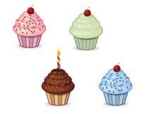 逗人喜爱的杯形蛋糕 免版税库存图片