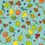 逗人喜爱的果子无缝的背景 免版税图库摄影