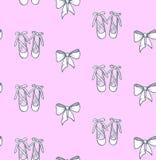 逗人喜爱的桃红色少女手拉的纹理芭蕾舞鞋传染媒介 皇族释放例证