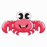 逗人喜爱的桃红色螃蟹 库存图片