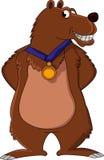 逗人喜爱的棕熊动画片 免版税库存照片