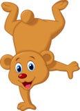 逗人喜爱的棕熊动画片 免版税图库摄影