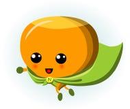 逗人喜爱的榛子超级英雄动画片 免版税图库摄影