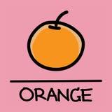 逗人喜爱的橙色手拉的样式,传染媒介例证 免版税库存照片