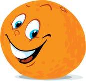 逗人喜爱的橙色柑桔动画片-传染媒介 库存例证