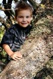 逗人喜爱的橡木老小孩 库存照片
