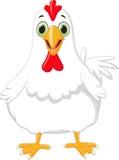 逗人喜爱的母鸡动画片 免版税库存图片