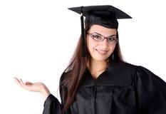 逗人喜爱的毕业生 免版税库存照片