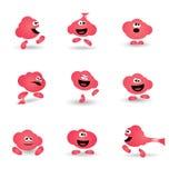 逗人喜爱的泡泡糖漫画人物象 免版税图库摄影