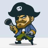 逗人喜爱的海盗 图库摄影