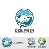 逗人喜爱的海豚有海背景 库存例证
