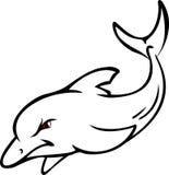 逗人喜爱的海豚纹身花刺设计 库存照片