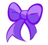 逗人喜爱的淡紫色弓 库存图片