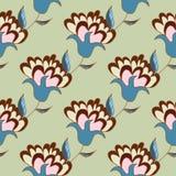 逗人喜爱的淡色花卉手拉的无缝的样式 免版税库存照片