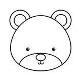 逗人喜爱的熊森林地象 库存例证