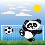 逗人喜爱的熊猫打球 免版税库存照片