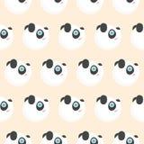 逗人喜爱的熊猫面孔样式 皇族释放例证