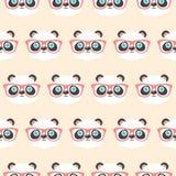 逗人喜爱的熊猫面孔样式 库存例证