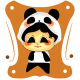 逗人喜爱的熊猫 免版税库存照片