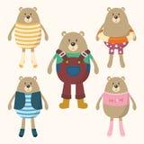 逗人喜爱的熊装饰 皇族释放例证
